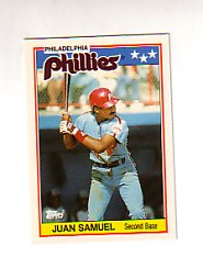 1988 Topps UK Minis Tiffany     064      Juan Samuel