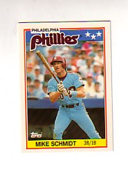 1988 Topps UK Minis Tiffany     067      Mike Schmidt