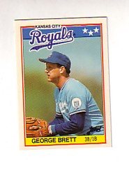 1988 Topps UK Minis Tiffany     007      George Brett