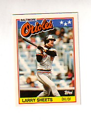 1988 Topps UK Minis Tiffany     070      Larry Sheets