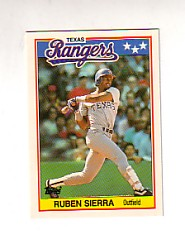 1988 Topps UK Minis Tiffany     071      Ruben Sierra