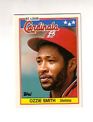1988 Topps UK Minis Tiffany     072      Ozzie Smith