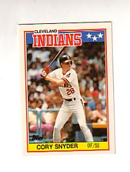 1988 Topps UK Minis Tiffany     074      Cory Snyder