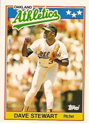 1988 Topps UK Minis Tiffany     075      Dave Stewart