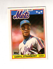 1988 Topps UK Minis Tiffany     076      Darryl Strawberry