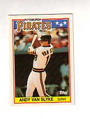 1988 Topps UK Minis Tiffany     081      Andy Van Slyke