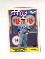 1988 Topps UK Minis Tiffany     084      Tim Wallach