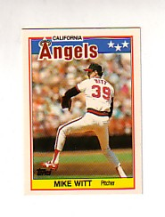 1988 Topps UK Minis Tiffany     086      Mike Witt