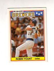 1988 Topps UK Minis Tiffany     087      Robin Yount
