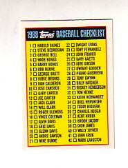 1988 Topps UK Minis Tiffany     088      Checklist Card