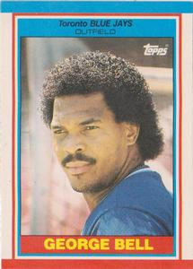 1989 Topps UK Minis Baseball Cards     003      George Bell