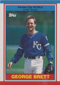 1989 Topps UK Minis Baseball Cards     007      George Brett