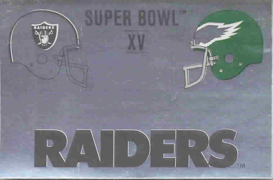 1989 Panini Football Super Bowl Foil Stickers