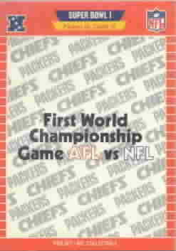 1989 Pro Set Football Cards Super Bowl Logos Football Cards