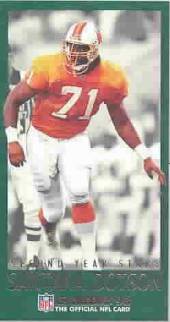1993 GameDay Second Year Stars Football Cards